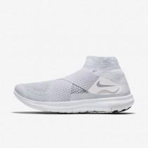 Nike Free RN Motion Flyknit 2017 Herren Laufschuhe Weiß/Reines Platin/Volt/Wolf grau 880845-100