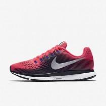 Nike Air Zoom Pegasus 34 Damen Laufschuhe Solar Rot/Schwarz/Persian Violet/Metallic Silber 880560-604