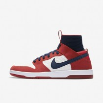 Nike SB Dunk High Elite Herren Skateboard Schuhe University Rot/Weiß/College Navy 917567-641