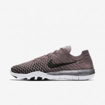 Nike Free TR Flyknit 2 Chrome Blush Damen Trainingsschuhe Taupe Grau/Chrome/Schwarz 904654-200