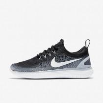 Nike Free RN Distance 2 Damen Laufschuhe Schwarz/Weiß/Kaltes Grau/Dunkelgrau 863776-001