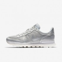Nike Internationalist Premium Damen Schuhe Metallic Platinum/Sail/Reines Platin 828404-008