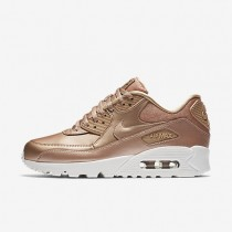 Nike Air Max 90 Premium Damen Schuhe Metallic Rot Bronze/Summit Weiß 896497-902