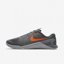 Nike Metcon 3 Herren Trainingsschuhe Dunkelgrau/Wolf grau/Kaltes Grau/Hyper Crimson 852928-007