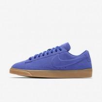 Nike Blazer Low Damen Schuhe Paramount Blau/Gummi hellbraun AA3962-401