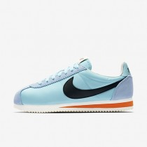 Nike Classic Cortez Nylon Premium Damen Schuhe Still Blau/Schwarz-Sail-Safety Orange 882258-402