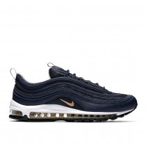 Nike Herren Air Max 97 Midnight Navy/Metallic Gold/Weiß 921826-400