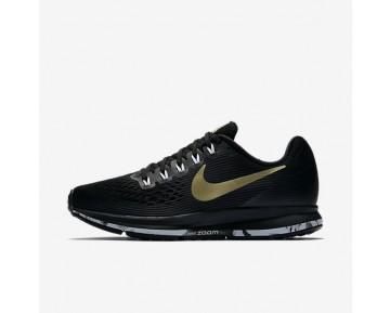 Nike Air Zoom Pegasus 34 Damen Laufschuhe Schwarz/Anthracite/Weiß/Metallic Gold Star 880560-017