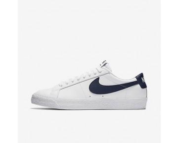 Nike SB Blazer Low Herren Skateboard Schuhe Weiß/Obsidian Blau 864347-141