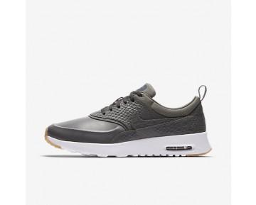 Nike Air Max Thea Premium Damen Schuhe Dunkelgrau/Gummi gelb/Weiß 616723-015