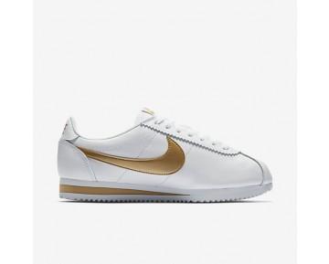 Nike Classic Cortez Damen Schuhe Weiß/Metallic Gold 807471-106