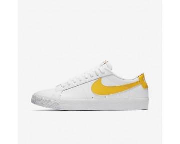 Nike SB Blazer Low Herren Skateboard Schuhe Weiß/Gelb 864347-171