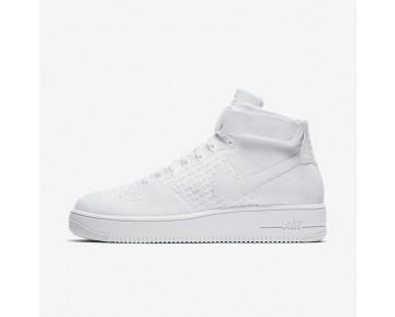 Nike Air Force 1 Ultra Flyknit Mid Herren Schuhe Weiß/Weiß/Weiß 817420-102