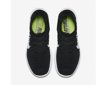 Nike Free RN Motion Flyknit Damen Laufschuhe Schwarz/Volt/Dunkelgrau/Weiß 834585-001