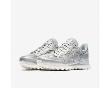 Nike Internationalist Premium Damen Schuhe Metallic Platinum/Sail/Reines Platin 828404-008