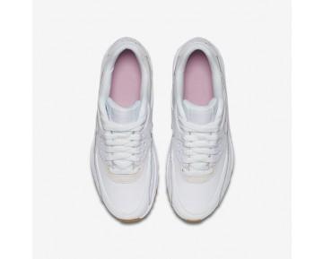 Nike Air Max 90 Leather SE Damen Laufschuhe Weiß/Prism Rosa/Gummi hellbraun/Weiß 897987-101