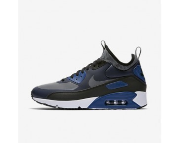 Nike Air Max 90 Ultra Mid Winter Herren Schuhe Obsidian/Schwarz/Gym Blau/Kaltes Grau 924458-401