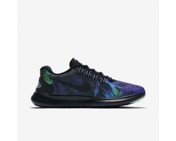 Nike Free RN 2017 Solstice Damen Laufschuhe Schwarz/Grün Glow/Schwarz 883295-001
