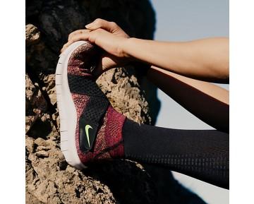 Nike Free RN Motion Flyknit 2017 Damen Laufschuhe Schwarz/Racer Rosa/Weiß/Volt 880846-004