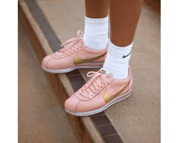 Nike Classic Cortez Damen Schuhe Arctic Orange/Weiß/Metallic Gold 807471-800