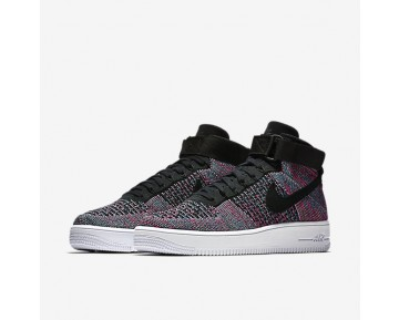 Nike Air Force 1 Ultra Flyknit Mid Herren Schuhe Hot Punch/Blau Glow/Weiß/Schwarz 817420-602