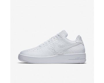 Nike Air Force 1 Flyknit Low Herren Schuhe Weiß/Weiß/Weiß 817419-101