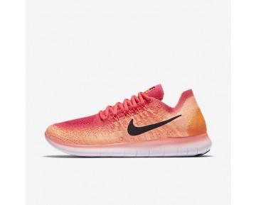 Nike Free RN Flyknit 2017 Damen Laufschuhe Bright Mango/Racer Rosa/Total Orange/Schwarz 880844-800
