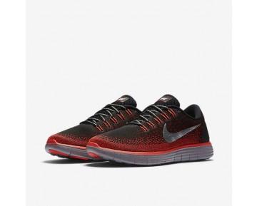 Nike Free RN Distance Shield Herren Laufschuhe Schwarz/Team Rot/Bright Crimson/Metallic Silber 849660-006