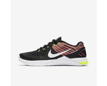 Nike Metcon Dsx Flyknit Damen Trainingsschuhe Schwarz/Volt/Chlorine Blau/Rot/Weiß 849809-011