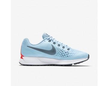 Nike Air Zoom Pegasus 34 Herren Laufschuhe Ice Blau/Bright Crimson/Weiß 880555-404