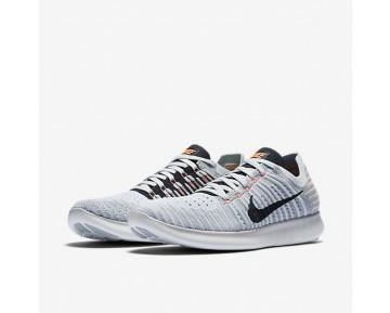 Nike Free RN Flyknit Damen Laufschuhe Wolf grau/Bright Mango/Reines Platin/Schwarz 831070-005