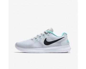 Nike Free RN 2017 Damen Laufschuhe Weiß/Reines Platin/Aurora/Anthracite 880840-103