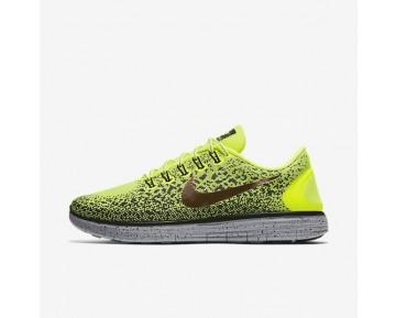 Nike Free RN Distance Shield Herren Laufschuhe Volt/Dunkelgrau/Schwarz/Metallic Rot Bronze 849660-700