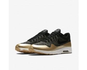 Nike Air Max 1 Ultra 2.0 Flyknit Metallic Damen Schuhe Schwarz/Metallic Gold Star/Flat Opal 881195-001