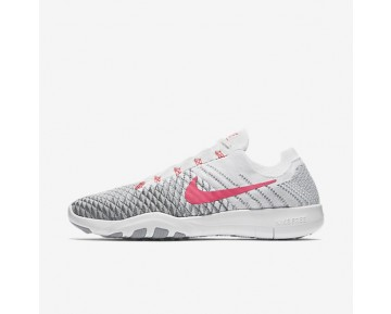 Nike Free TR Flyknit 2 Damen Trainingsschuhe Weiß/Wolf grau/Kaltes Grau/Hyper Punch 904658-100
