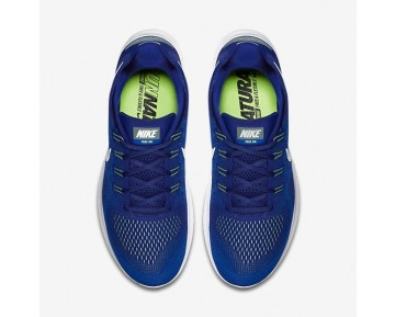 Nike Free RN 2017 Herren Laufschuhe Deep Royal Blau/Soar/Ghost Grün/Weiß 880839-401