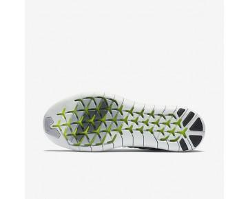 Nike Free RN Motion Flyknit Damen Laufschuhe Weiß/Volt/Off-Weiß/Schwarz 834585-100