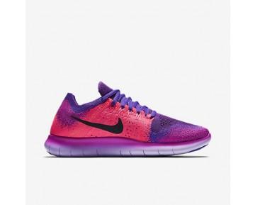 Nike Free RN Flyknit 2017 Damen Laufschuhe Fire Rosa/Hyper Grape/Racer Rosa/Schwarz 880844-600