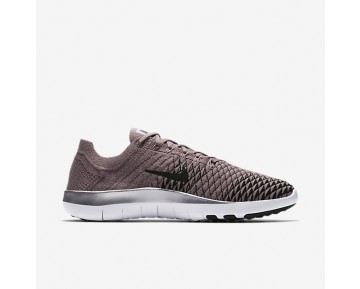 Nike Free TR Flyknit 2 Chrome Blush Damen Trainingsschuhe Taupe Grau/Chrome/Schwarz 904654-200