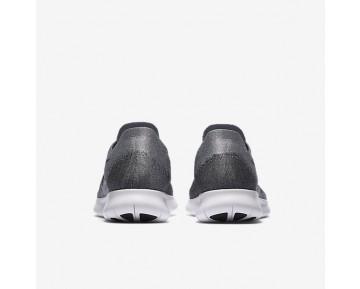Nike Free RN Flyknit 2017 Herren Laufschuhe Wolf grau/Anthracite/Kaltes Grau/Schwarz 880843-002