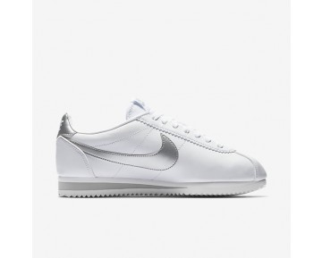 Nike Classic Cortez Damen Schuhe Weiß/Wolf grau/Metallic Silber 807471-105
